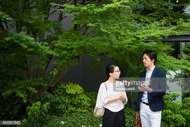 屋外歩行のミーティング