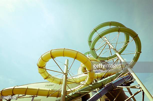 Outdoor waterslides