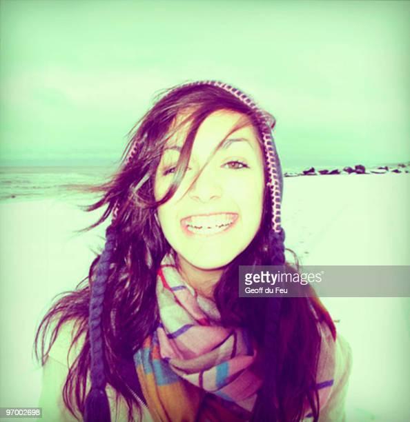 Outdoor Winter Portrait of Teenage Girl