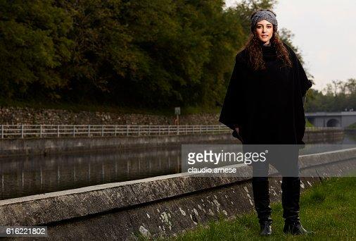 Frau Porträt im Freien : Stock-Foto