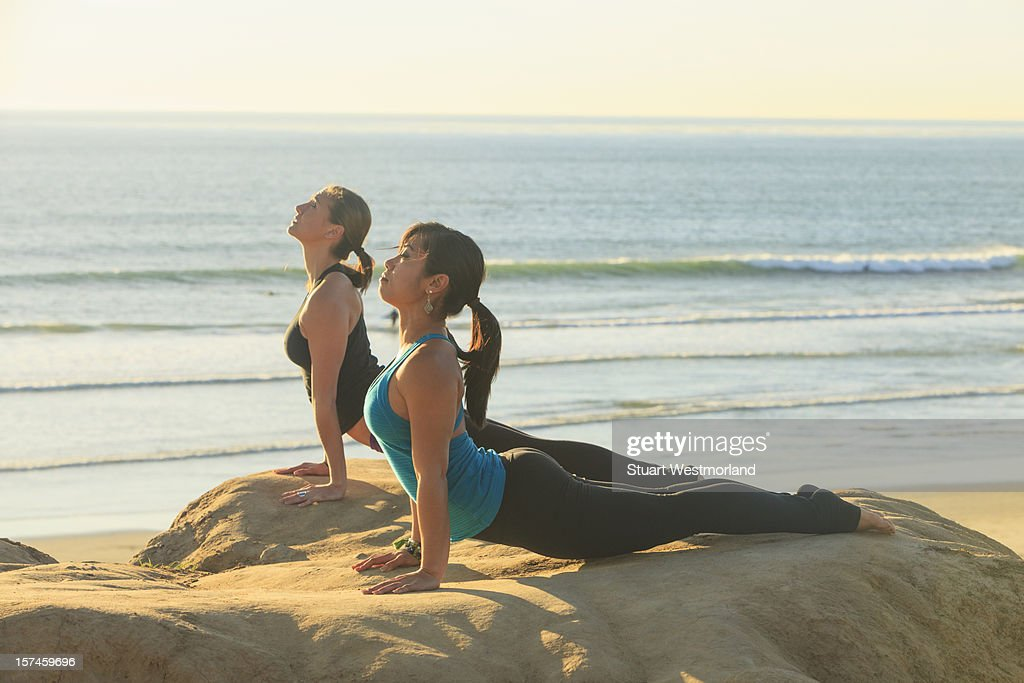 Outdoor Yoga : Stock Photo