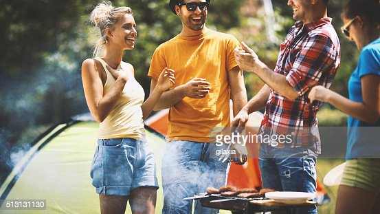 Outdoors barbecue.