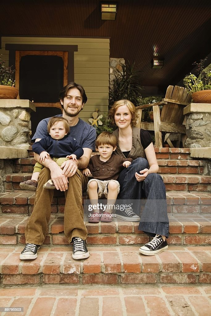 Outdoors family portrait