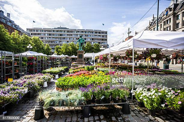 Outdoors Flowers and plants market in Oslo, Norway