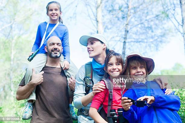 Freien vacations Familie mit auf eine Reise.