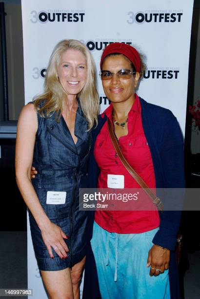 Outfest commitee member/donor Elizabeth Lande and professional boxer Lucia Rijker attend 'Outfest VIP Women's Soiree' at Gallery Lofts on June 24...