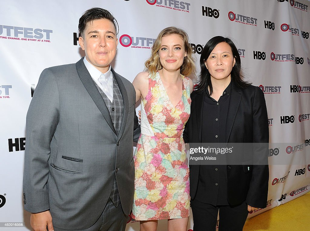 Outfest Director of Programming KP Pepe, actress <a gi-track='captionPersonalityLinkClicked' href=/galleries/search?phrase=Gillian+Jacobs&family=editorial&specificpeople=4836757 ng-click='$event.stopPropagation()'>Gillian Jacobs</a> and Outfest artistic director Kim Yutani attend the 2014 Outfest opening night gala of 'Life Partners' at Orpheum Theatre on July 10, 2014 in Los Angeles, California.