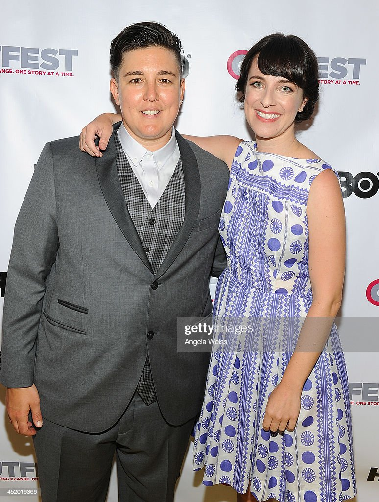 Outfest Director of Programming KP Pepe and director Susanna Fogel attend the 2014 Outfest opening night gala of 'Life Partners' at Orpheum Theatre on July 10, 2014 in Los Angeles, California.