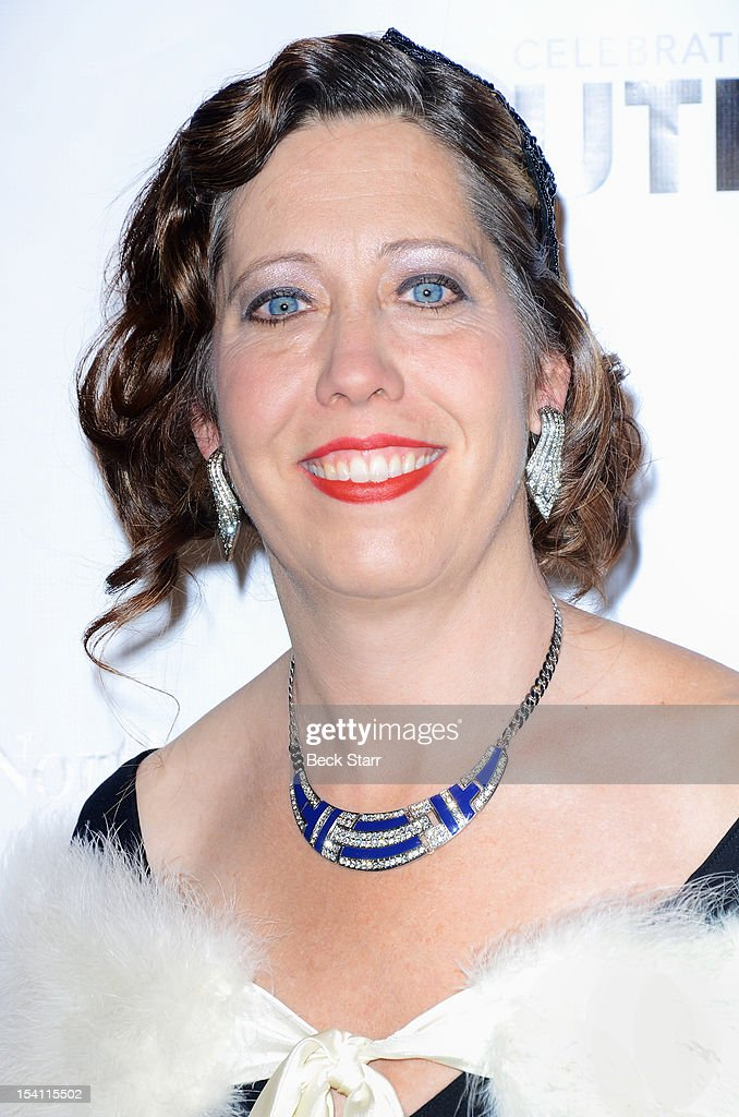 Outfest Executive Director Kirsten Schaffer arrives at the 2012 Outfest Legacy Awards at Orpheum Theatre on October 13, 2012 in Los Angeles, California.