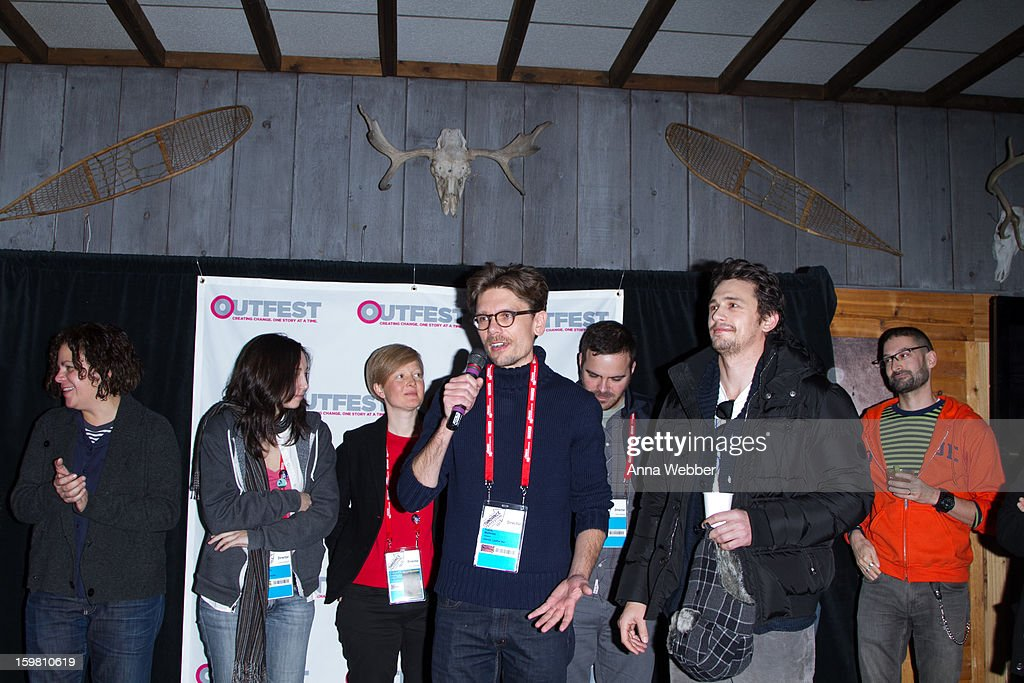 Outfest filmmakers participate in filmmaker discussion during Outfest Queer Brunch - 2013 Park City on January 20, 2013 in Park City, Utah.