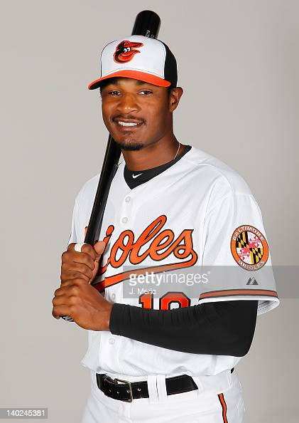Outfielder Adam Jones of the Baltimore Orioles poses for a photo during photo day at Ed Smith Stadium on March 1 2011 in Sarasota Florida