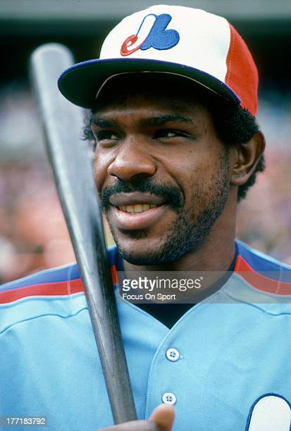Outfielder Andre Dawson of the Montreal Expos poses for this portrait prior to a Major League Baseball game against the New York Mets circa 1983 at...