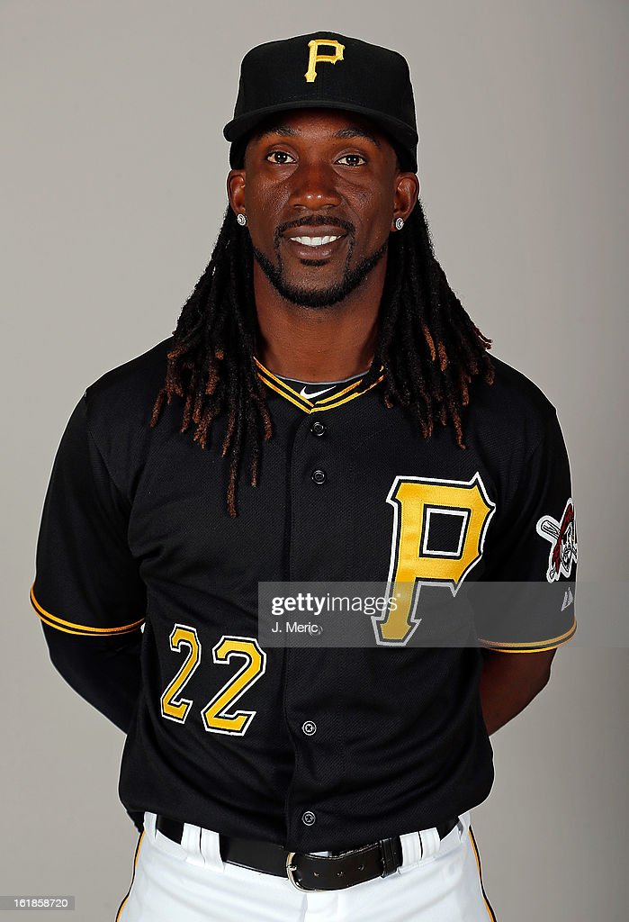 Outfielder Andrew McCutchen #22 of the Pittsburgh Pirates poses for a photo during photo day at Pirate City on February 17, 2013 in Bradenton, Florida.