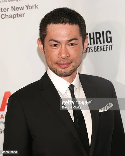 Outfielder for the Miami Marlins/event honoree Ichiro Suzuki attends the 22nd Annual Lou Gehrig Sports Awards Benefit held at the New York Marriott...