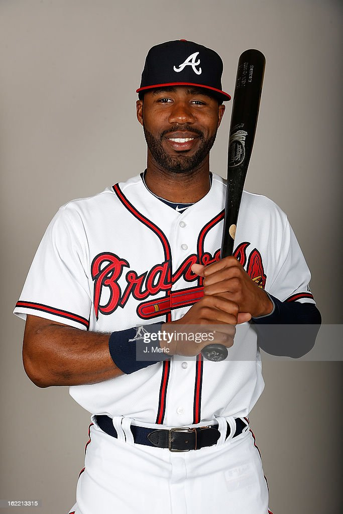Outfielder <a gi-track='captionPersonalityLinkClicked' href=/galleries/search?phrase=Jason+Heyward&family=editorial&specificpeople=5043351 ng-click='$event.stopPropagation()'>Jason Heyward</a> #22 of the Atlanta Braves poses for a photo during photo day at Champion Stadium at the ESPN Wide World of Sports Complex at Walt Disney World on February 20, 2013 in Lake Buena Vista, Florida.