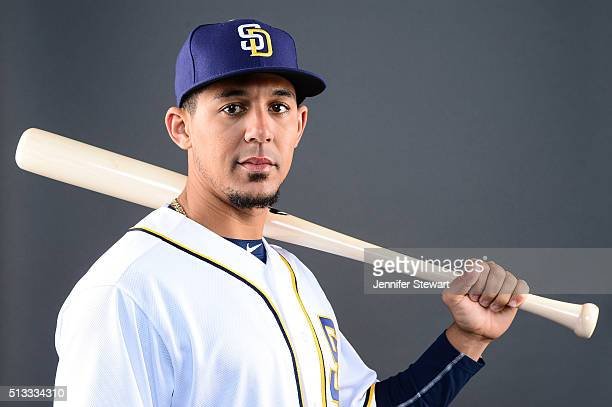 Outfielder Jon Jay of the San Diego Padres poses for a portrait during spring training photo day at Peoria Sports Complex on February 26 2016 in...