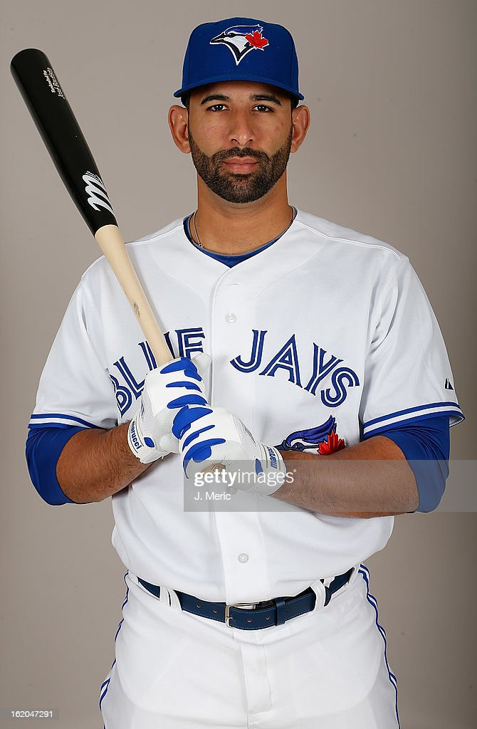 Outfielder Jose Bautista #19 of the Toronto Blue Jays poses for a photo during photo day at Florida Auto Exchange Stadium on February 18, 2013 in Dunedin, Florida.