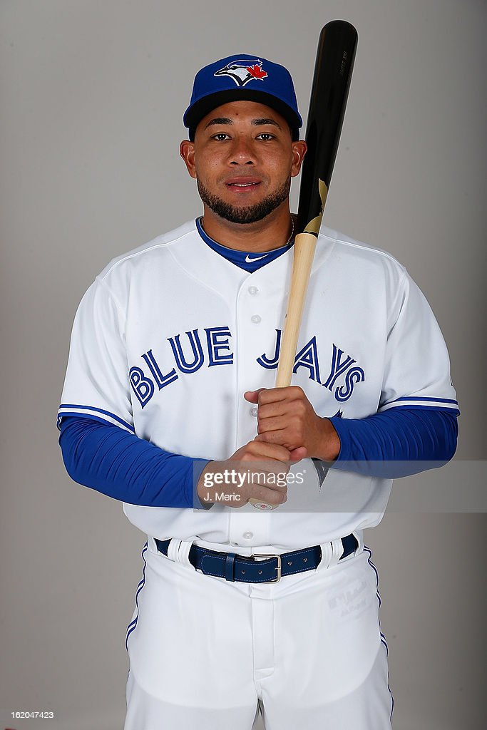 Outfielder Melky Cabrera #53 of the Toronto Blue Jays poses for a photo during photo day at Florida Auto Exchange Stadium on February 18, 2013 in Dunedin, Florida.