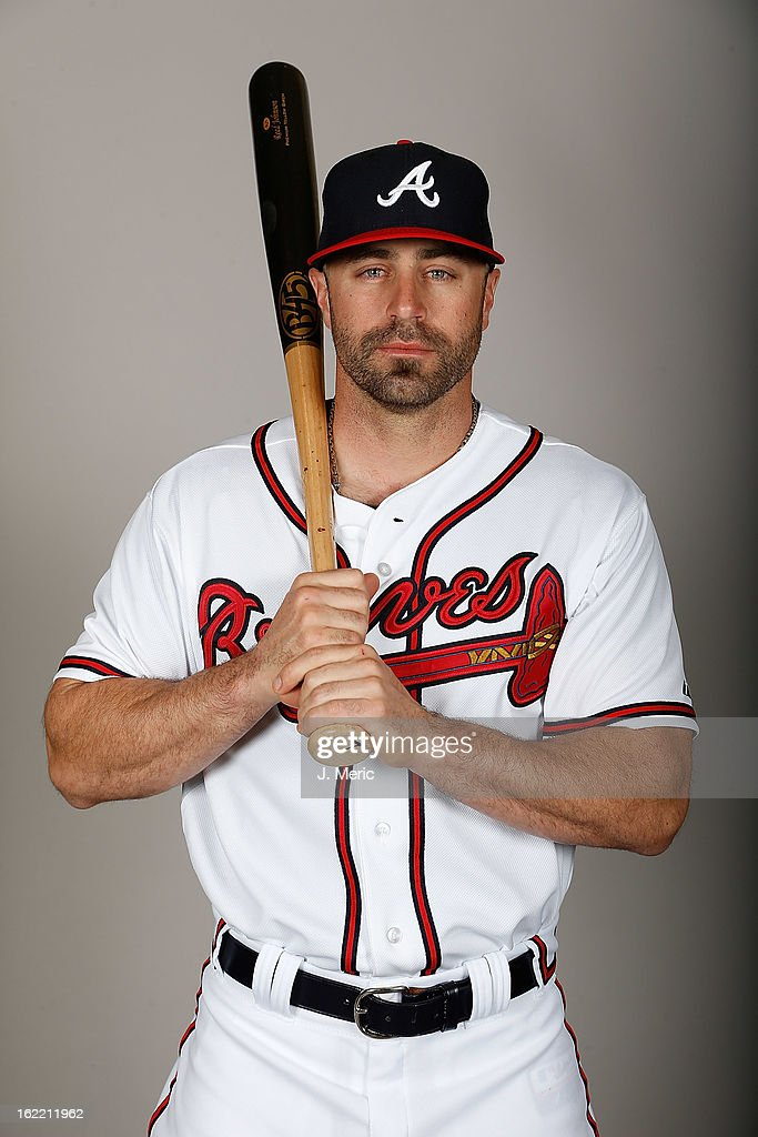 Outfielder Reed Johnson #7 of the Atlanta Braves poses for a photo during photo day at Champion Stadium at the ESPN Wide World of Sports Complex at Walt Disney World on February 20, 2013 in Lake Buena Vista, Florida.