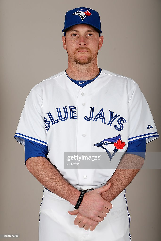 Outfielder Ryan Langerhans #17 of the Toronto Blue Jays poses for a photo during photo day at Florida Auto Exchange Stadium on February 18, 2013 in Dunedin, Florida.