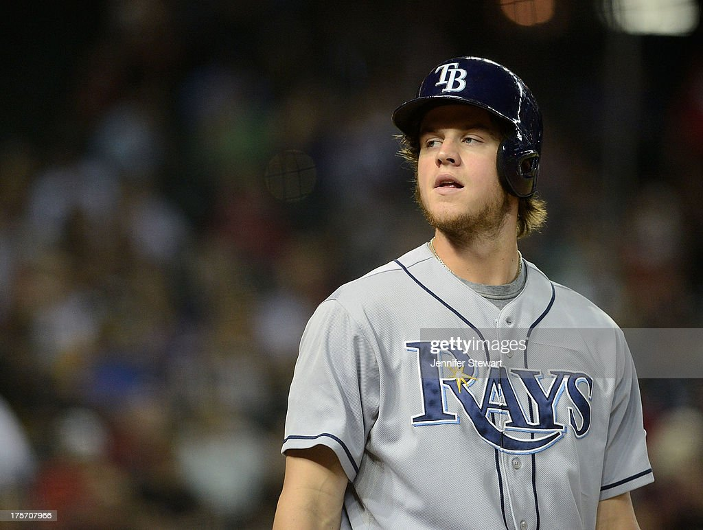 Outfielder Wil Myers #9 of the Tampa Bay Rays stands in the on deck circle in the second inning of the game against the Arizona Diamondbacks at Chase Field on August 6, 2013 in Phoenix, Arizona.