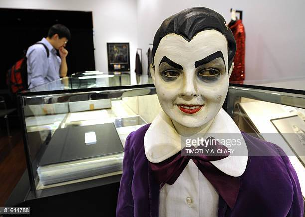 A outfit work by Butch Patrick portraying Eddie Munster from the TV series 'The Munsters' is on display during a press preview June 20 2008 for...