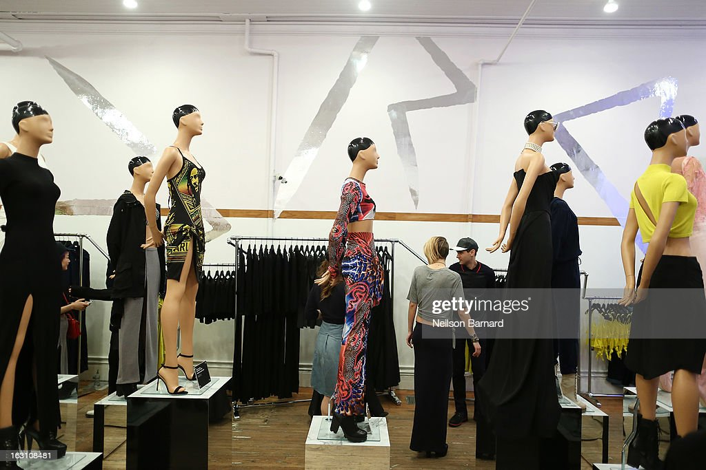 Outfits worn by Rihanna on display at the Opening Ceremony RIHtrospective: Seven Rihanna Fashion Moments at Opening Ceremony on March 4, 2013 in New York City.
