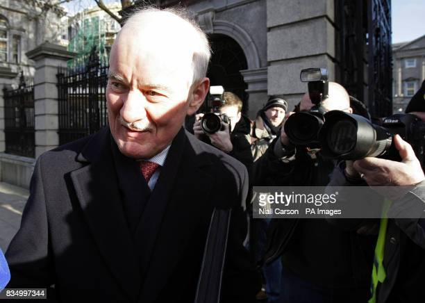 Outgoing Financial Regulator Patrick Neary arrives to be questioned at the Oireachtas Committee on Economic Regulatory Affairs at Leinster House in...