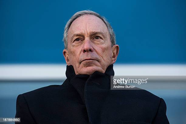 Outgoing Mayor of New York City Michael Bloomberg speaks at the opening ceremony of Four World Trade Center the first tower to open at the original...