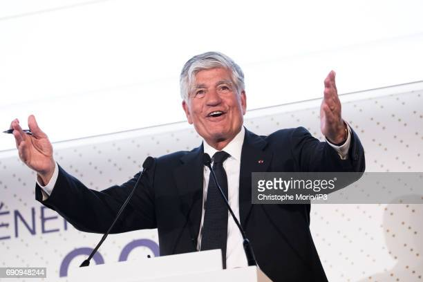 Outgoing Publicis Group Chairman and CEO Maurice Levy attends a Publicis general assembly as part of the transfer of power to his successor Arthur...