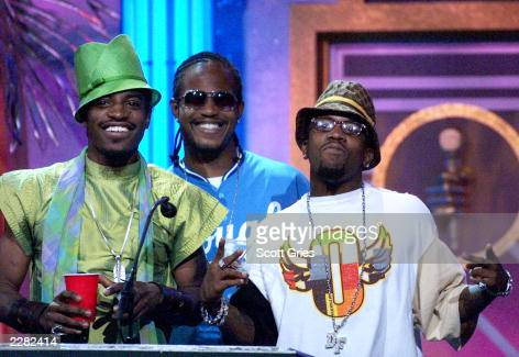 Outkast accepts their award at The Source HipHop Music Awards 2001 at the Jackie Gleason Theater in Miami Beach Florida 8/20/01 Photo by Scott...
