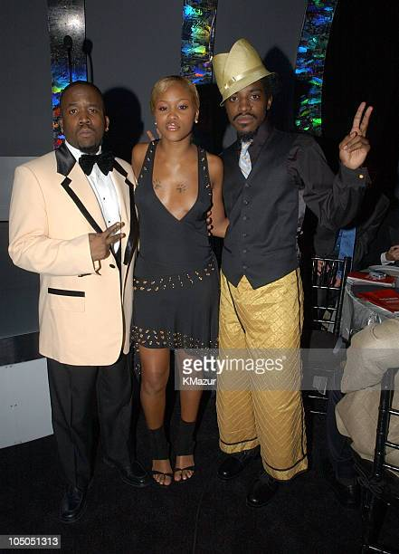 OutKast and Eve during 2002 GQ Men of the Year Awards Inside at Hammerstein Ballroom in New York City New York United States