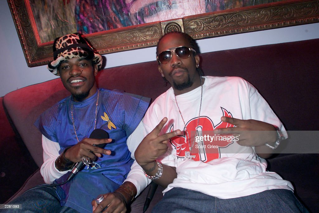 Outkast backstage during a special week of hip hop on TRL at the MTV studios in New York City. 4/30/01 Photo by Scott Gries/ImageDirect