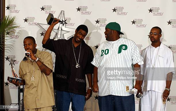 Big Boi LBone Nate and Killa Mike during The 2nd Annual BET Awards Interview Room at The Kodak Theater in Hollywood California United States