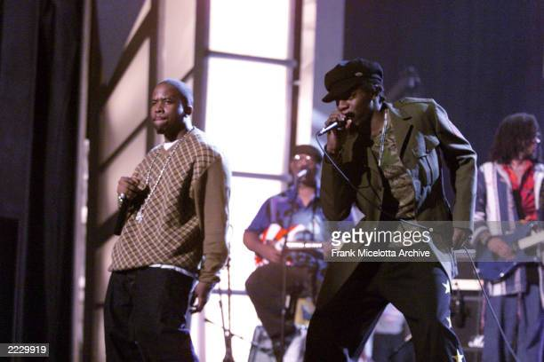 Outkast during rehearals at the 44th Annual Grammy Awards at the Staples Center in Los Angeles Ca Feb 24 2002
