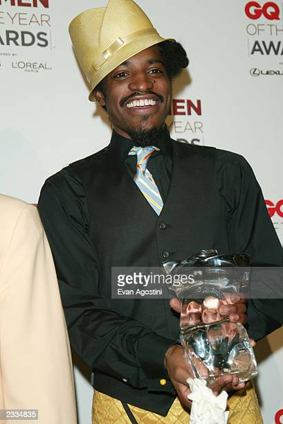 Outkast in the press room at the 2002 GQ 'Men Of The Year' Awards at The Manhattan Center in New York City October 16 2002 Photo by Evan...