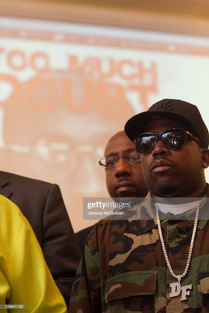 Outkast musician, Big Boi, gathers with protestors at Towaliga County Line Baptist Church across from Jackson State Prison before the planned execution of inmate Troy Davis on September 21, 2011 in Jackson, Georgia. The Georgia Board of Pardons and Paroles denied clemency for death row inmate Troy Davis on Tuesday morning. Davis is scheduled for execution at 7pm on Wednesday, September 21, 2011 for the 1989 slaying of off-duty Savannah, Ga., police officer Mark MacPhail. Controversy over Davis' guilt has drawn national attention to the case.