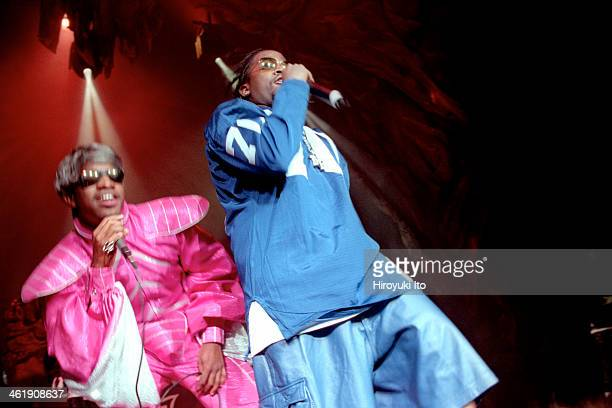 Outkast performing at the Theater at Madison Square Garden on Friday night March 9 2001This imageDre left and Big Boi