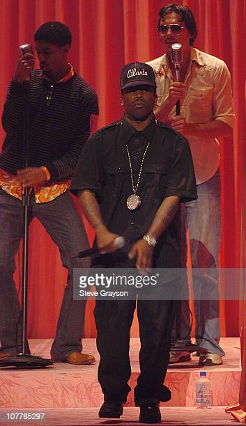 Outkast performs during rehearsals for the 2004 BET Awards at the Kodak Theatre in Hollywood California June 28 2004