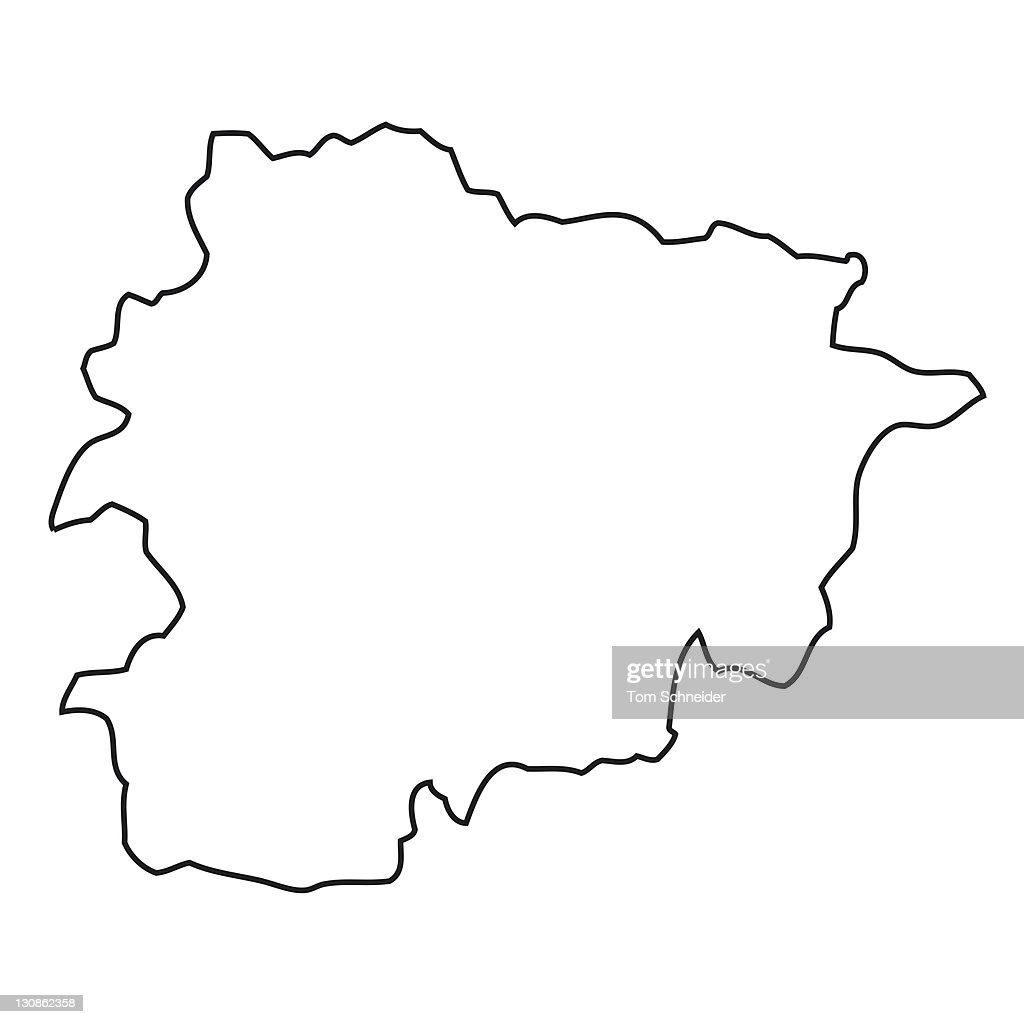 outline map of andorra stock photo getty images