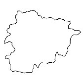 Outline, map of Andorra