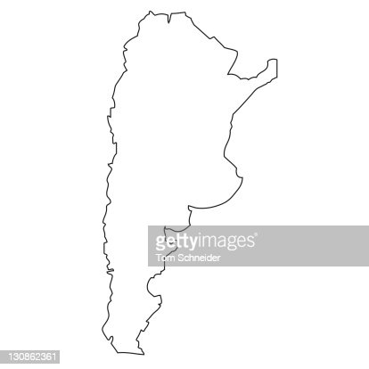Outline Map Of Argentina Stock Photo Getty Images - Argentina map outline