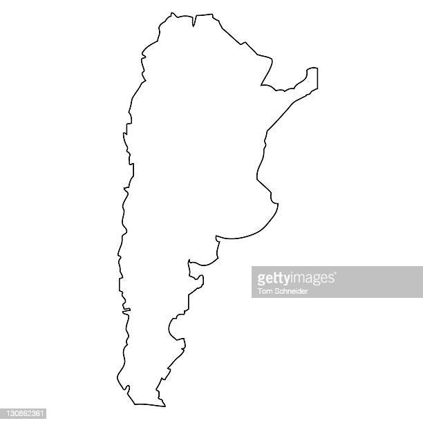 Outline, map of Argentina