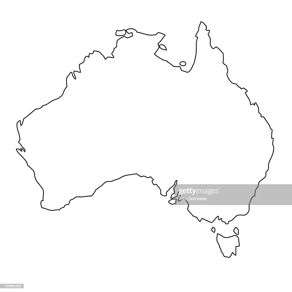 outline map of australia stock photo getty images