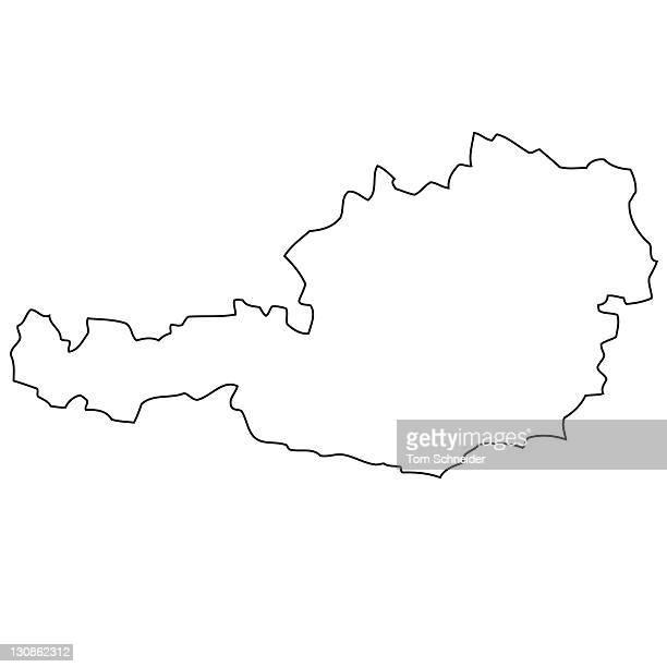 Outline, map of Austria