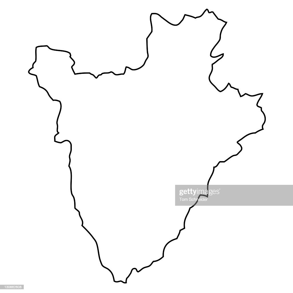 outline map of burundi stock photo getty images