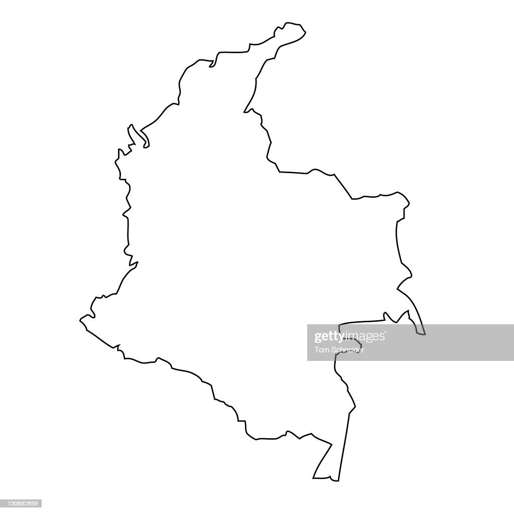 outline map of colombia stock photo getty images