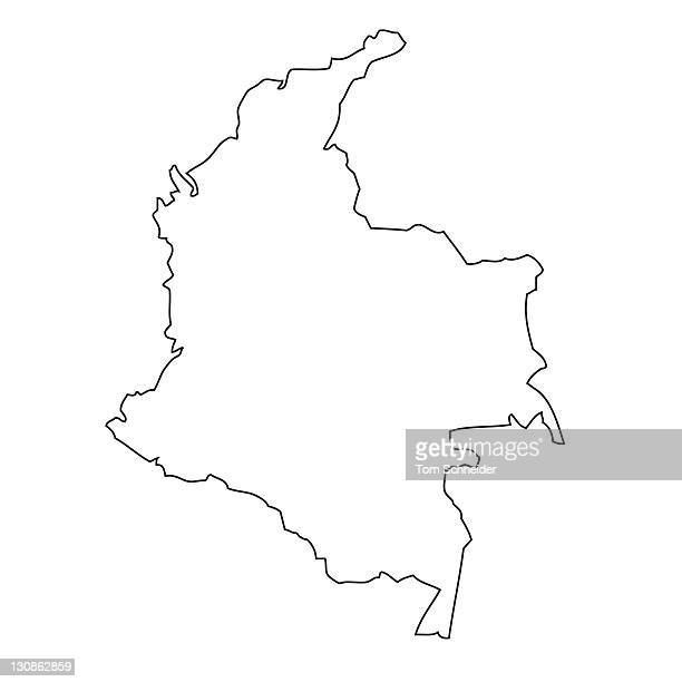 Outline, map of Colombia