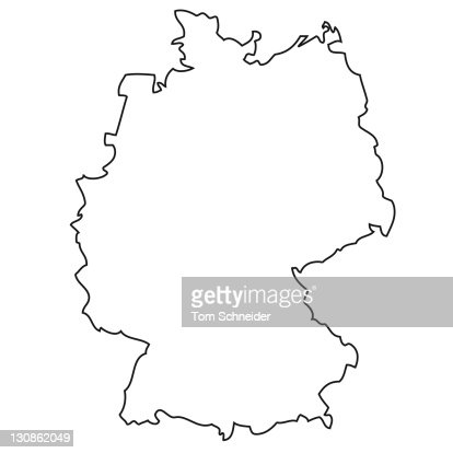 Outline Map Of Germany Stock Photo Getty Images - Germany map outline