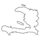 Outline, map of Haiti
